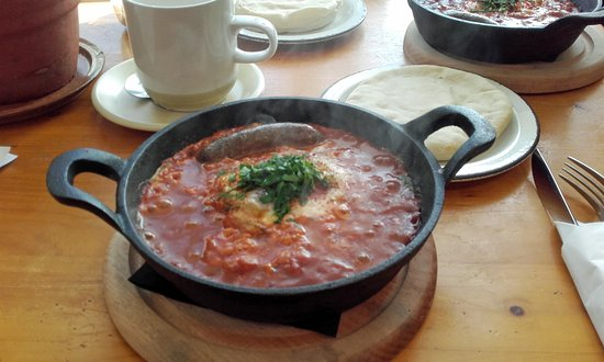 Crediton, UK: Shakshuka- North African breakfast
