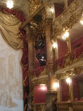Cuvilliestheater (Altes Residenztheater): Cuvilliéstheater - Innenraum - Detail