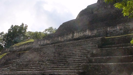 Belize District, Belize: The facade of the Xunantunich Pyramid