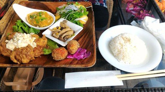 Miyakonojo, Japonia: チキン南蛮のプレートランチ