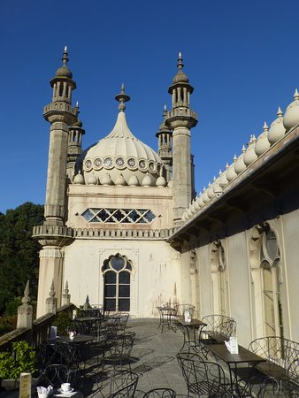 Royal Pavilion: View from tearoom tterrace