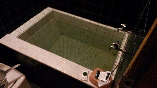 hotel edoya baera pequea y afuera ducha con banqueta para sentarse - Baeras Pequeas