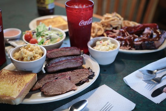 Purcell, OK: 2 MT Combo with Ribs Brisket Mac&Cheese and a Salad.  YUM!
