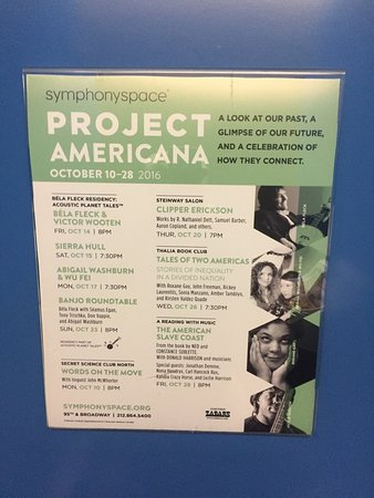 Symphony Space : A treasure house for the performing arts