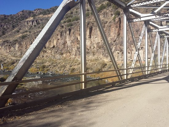 Arroyo Hondo, NM: On bridge looking across to other side (road gets real rough).