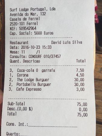 "Surfers Lodge Restaurant: Muito caro ."","