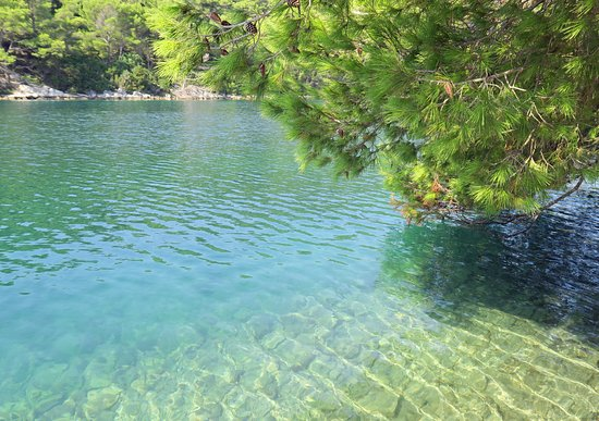 Korcula Island, Croacia: Big inland lake on Mljet island