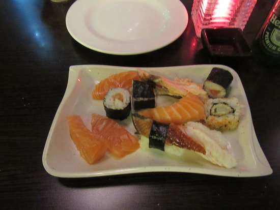 Rijperkerk, Niederlande: Diversiteit aan sushi en sashimi