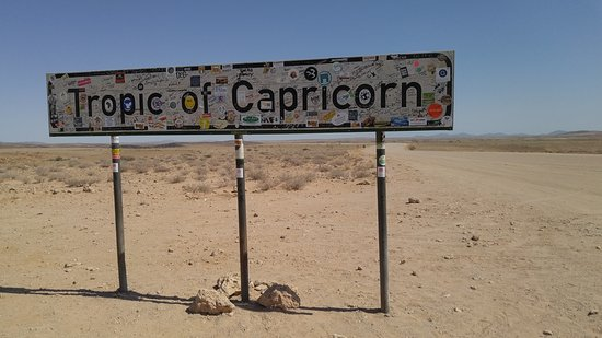 Solitaire, Namibia: Awesome to have arrived at the Tropic of Capricorn.