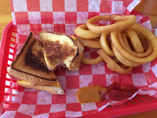 Mims, FL: Grilled ham and cheese with a side of onion rings