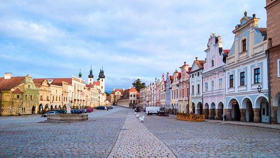 Telc, República Tcheca: 广场景色