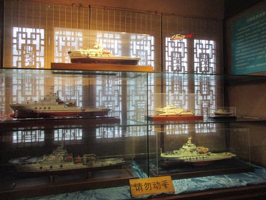 Zhenjiang, China: Miniatures of vessels engaged in Life Saving Operations