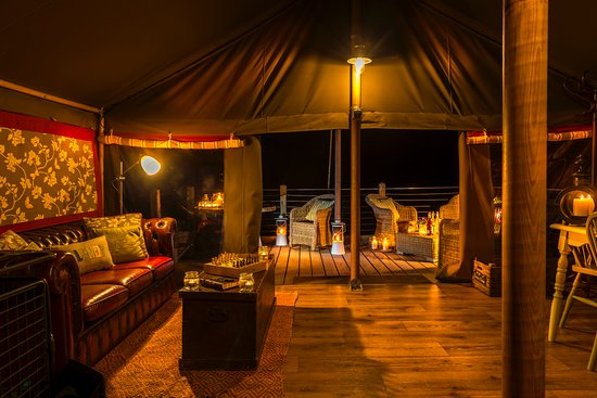 Longlands : Enjoy a glowing glamping experience with our new LED lights! Dark nights are no more!