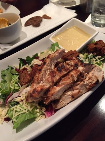 Glen Mills, PA: Chicken Caesar salad - dressing on the side