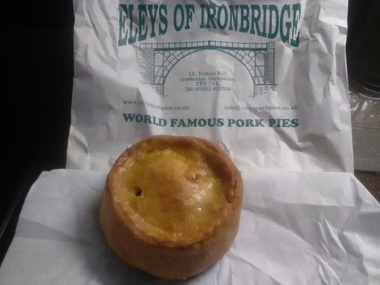 Ironbridge Gorge, UK: A famous pork pie