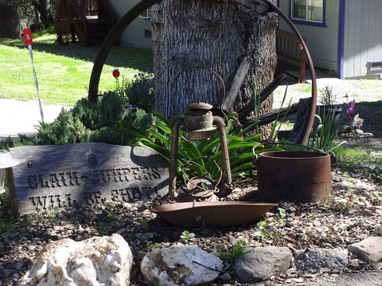 Mariposa, Californien: gold rush era gold mining tools