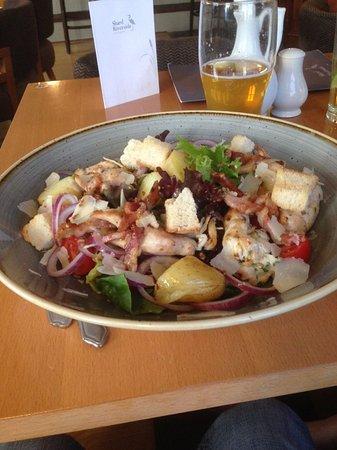 Poulton Le Fylde, UK: mixed dish with salad