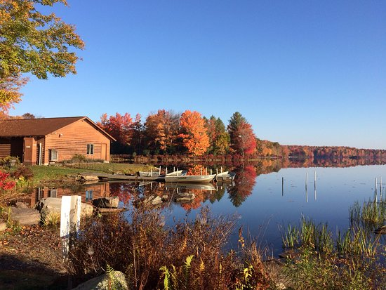 Inn at Lake Joseph: Lake Joseph, with rowboats and kayaks for your use!