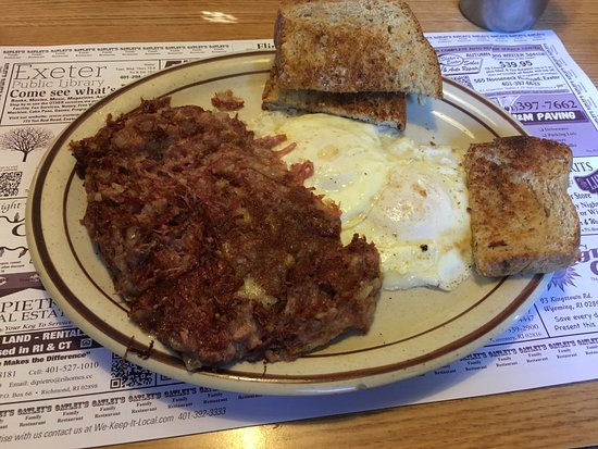 North Kingstown, Род Айленд: Corned beef hash. The homemade bread made for great toast!