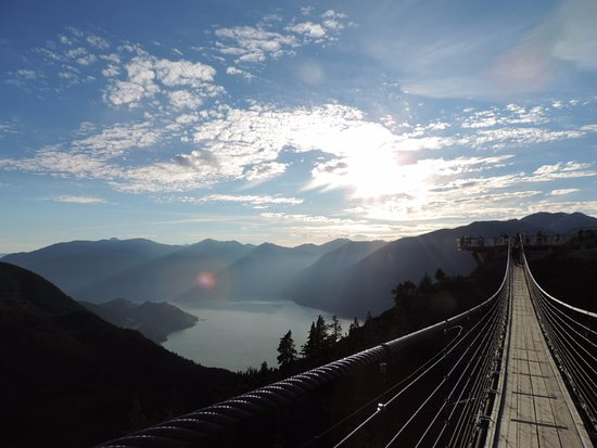Squamish, Kanada: The suspension bridge