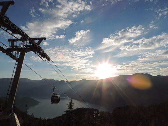 Squamish, Kanada: Time to take the gondola down
