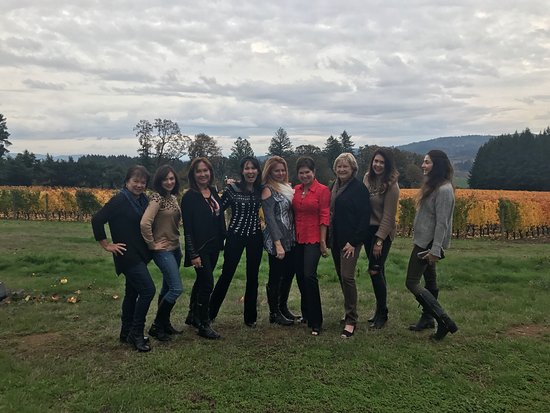 Equestrian Wine Tours: We were 9 women spending the weekend in Willamette Valley. The Equestrian Wine Tour was the high