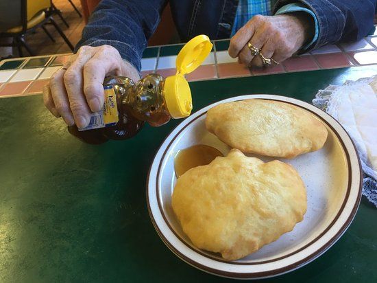 Dolores, CO: Puffy sopapillas with honey for dessert or just a snack.  Perfect to end a meal