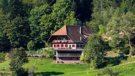 Nordrach, Allemagne : Der idyllisch gelegene Gasthof Moosbach