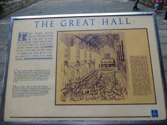 Линлитгоу, UK: Information about the Great Hall.