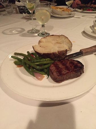 Pleasanton, CA: Filet with Baked Potato and String Beans