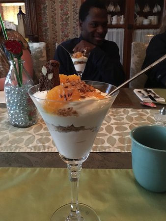 Hollidaysburg, PA: Amazing breakfast- lovely Inn-friendly hosts
