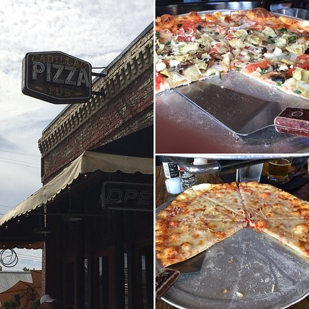 McKinney, TX: Very good pizza, but flies buzzing the table and fans on high on a cool day made for cold pizza