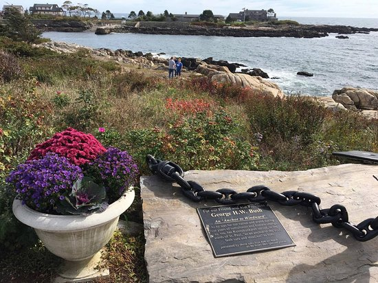 Walker's Point: Marker commemorating their friend and 41st President of the USA: An Anchor to Windward""