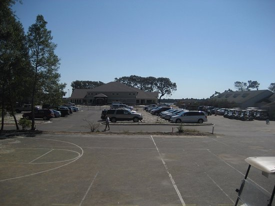 Holden Beach, Kuzey Carolina: View of new clubhouse under construction