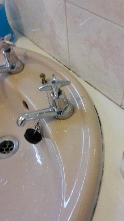 Sabie, Sydafrika: verschimmeltes Waschbecken