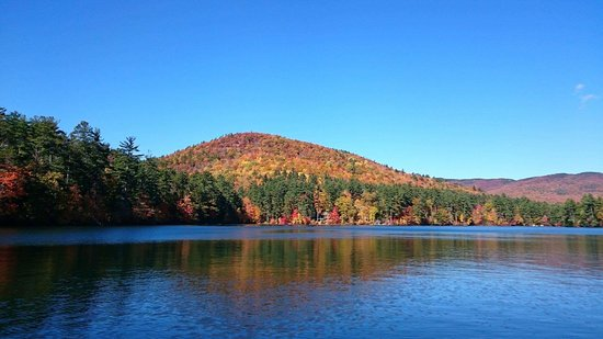 Holderness, NH: Peak of Fall from Squam Lake