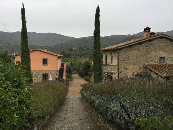 Casa Portagioia: main house on right, guest quarters on the left.
