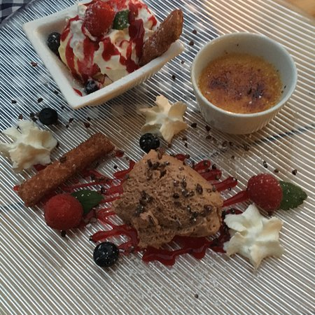 Bad Honnef, Almanya: Op de Hüh - Dessert Dreierlei