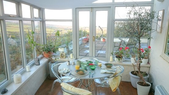 Zennor, UK: Breakfast in the conservatory