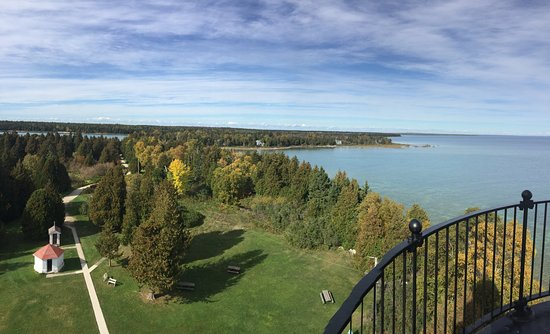 Baileys Harbor, WI: 97 steps to a beautiful view