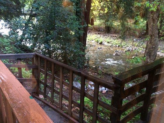 Ripplewood Resort: Deck overlooking river