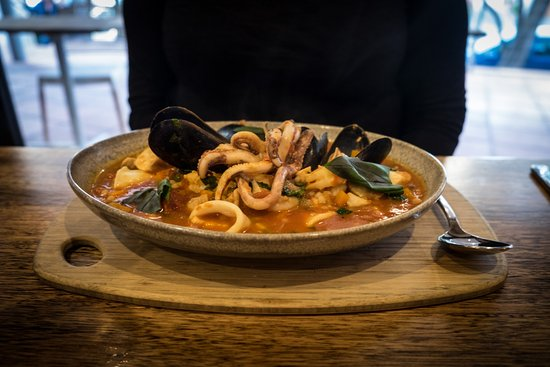 Seafood stew at Sails restaurant, Robe.