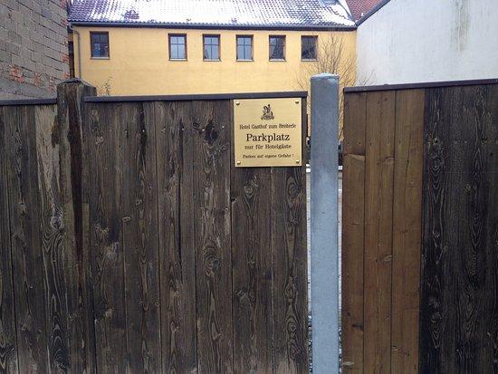 Gasthof Zum Breiterle: Парковка по приезду оказалась бесплатной ;)