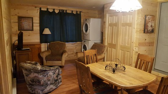 Craig, CO: Two Bedroom Cabin: Dining/Living Room area with Washer and Dryer