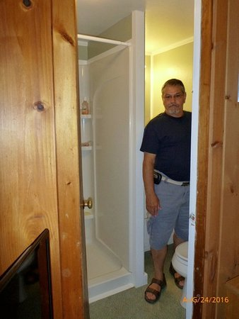 Eastham, MA: Tight squeeze coming from the sink in Queen Studio Suite #7