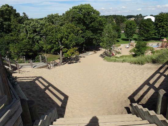 Tunnel Park: This is where you can climb up the dune - as seen from the top