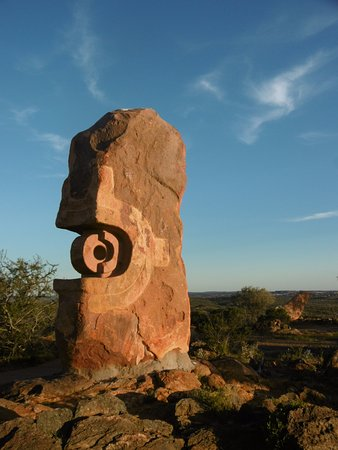 Rock Sculpture in the Living Desert National Park at Broken Hill