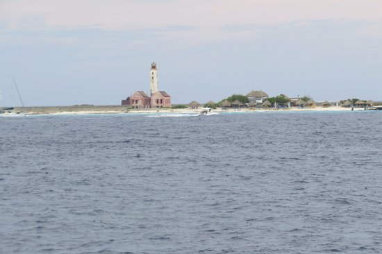 Mermaid Boat Trips: The lighthouse from the deck of the Mermaid when moored.