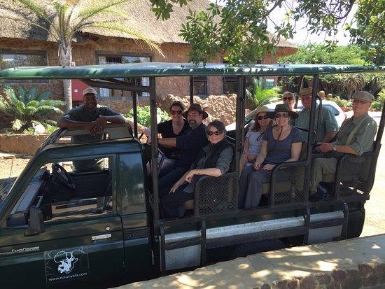 Hluhluwe, جنوب أفريقيا: Our Nyala Safari Group With James
