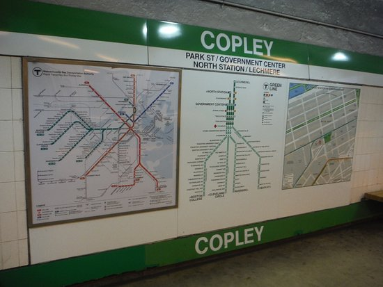 Copley station Picture of Massachusetts Bay Transportation